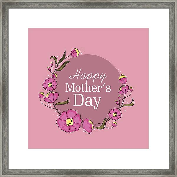 photo about Happy Mothers Day Printable Card identified as Greeting Card Style and design For Delighted Moms Working day Bash. Framed Print