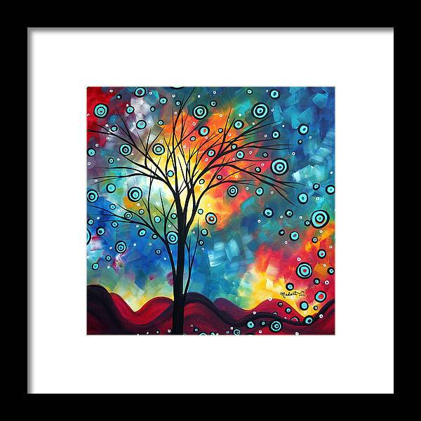 Wall Framed Print featuring the painting Greeting The Dawn By Madart by Megan Duncanson