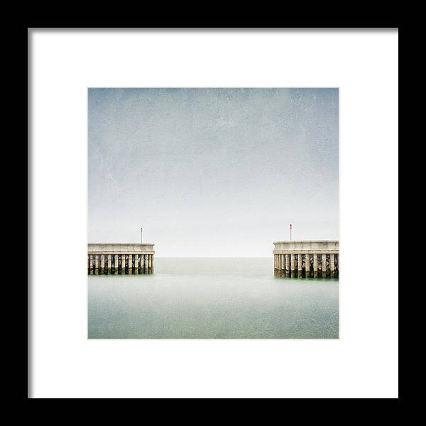 Seascape Framed Print featuring the photograph Greystones Harbour by Maggy Morrissey