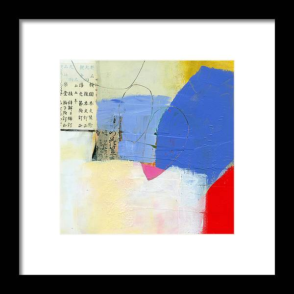 Jane Davies Framed Print featuring the painting Grid 7 by Jane Davies