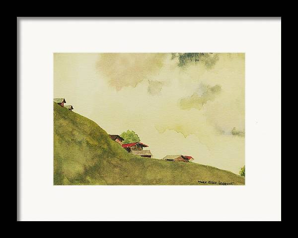 Swiss Framed Print featuring the painting Grindelwald Dobie Inspired by Mary Ellen Mueller Legault
