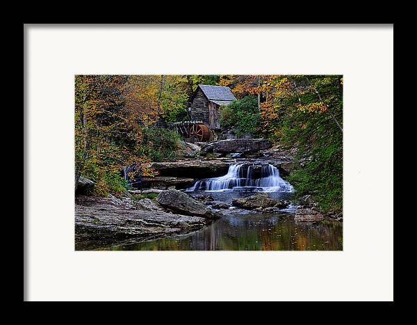 Trees Framed Print featuring the photograph Grist Mill Falls by Lone Dakota Photography