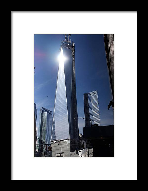 New York Framed Print featuring the photograph Ground Zero New York by Thomas Fouch