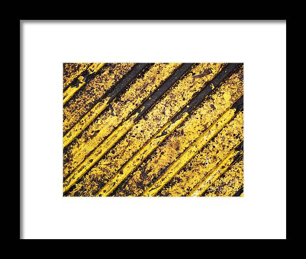 Yellow Framed Print featuring the photograph Grunge Dirty Yellow Texture by Konstantin Sutyagin
