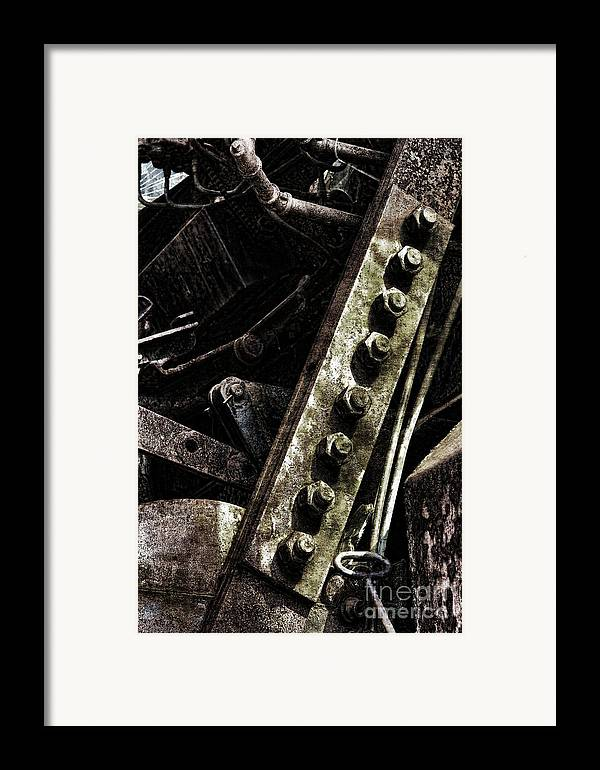 Industrial Framed Print featuring the photograph Grunge Industrial Machinery by Olivier Le Queinec