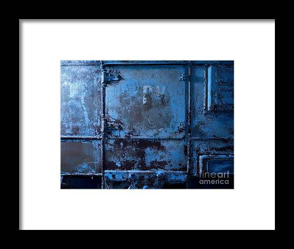 Background Framed Print featuring the photograph Grunge Old Metal Texture by Konstantin Sutyagin