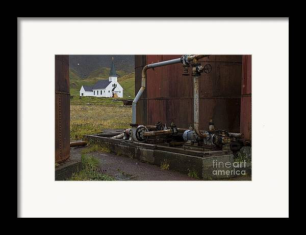 Church Framed Print featuring the photograph Grytviken, South Georgia by John Shaw