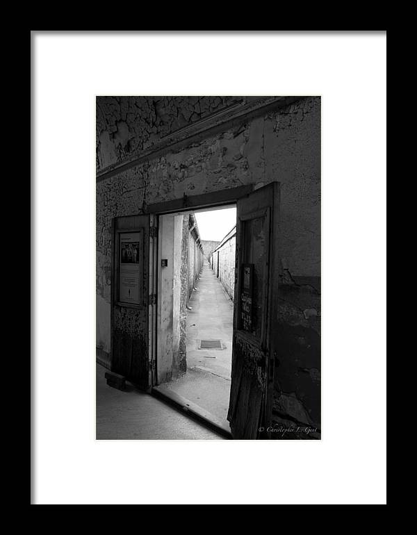 Eastern State Penitentiary Framed Print featuring the photograph Guantlet by Chris Gent