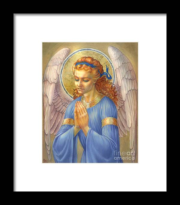 Guardian Angel Framed Print featuring the digital art Guardian Angel by Zorina Baldescu