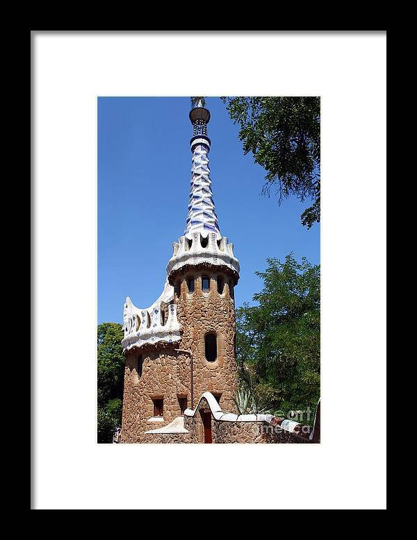 Guell Framed Print featuring the photograph Guell Park Barcelona by Sophie Vigneault