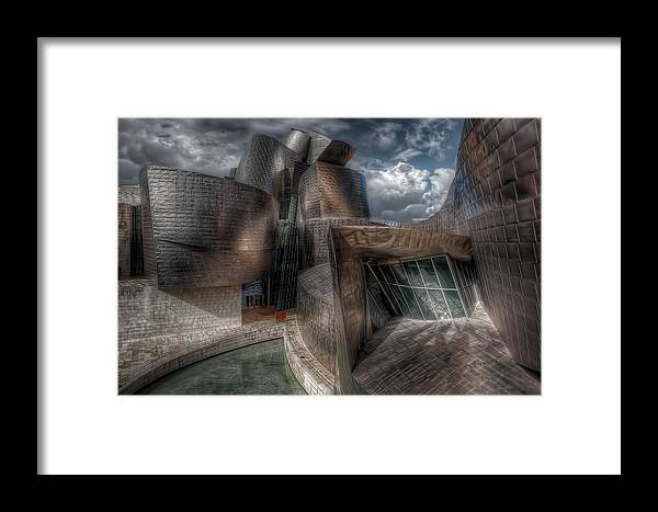 Gugenheim Framed Print featuring the photograph Gugenheim Museum by Sylvain Millier