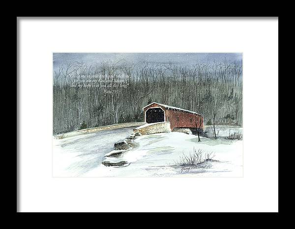 Lancaster County Covered Bridge Framed Print featuring the painting Guide Me by Nancy Patterson