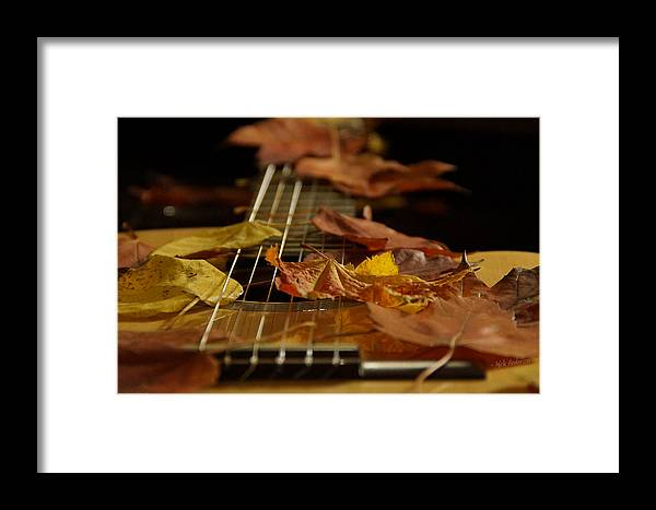Guitar Framed Print featuring the photograph Guitar Autumn 2 by Mick Anderson