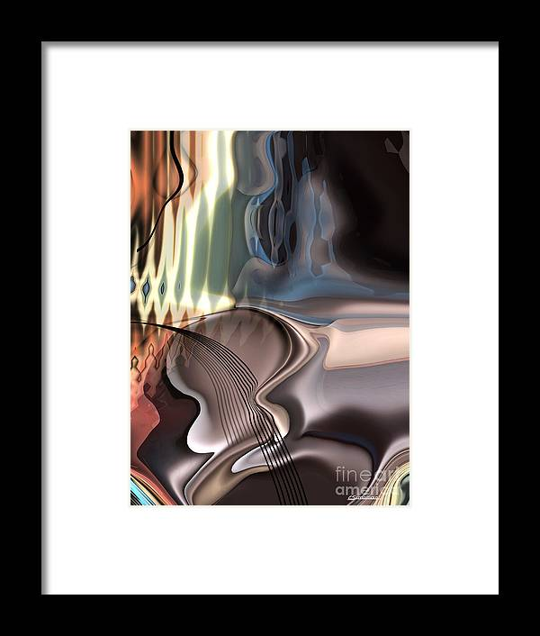 Music Framed Print featuring the painting Guitar Sound by Christian Simonian