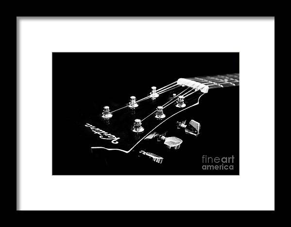 Guitar Framed Print featuring the photograph Guitar Ventura Head Stock 1 by Andee Design