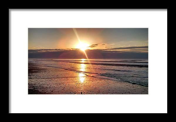 Sunrise Framed Print featuring the photograph Gulf Sunrise by Debra Wynn