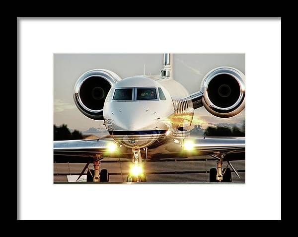 James David Phenicie Framed Print featuring the photograph Gulfstream G550 by James David Phenicie