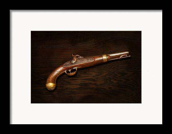 Gun Framed Print featuring the photograph Gun - Us Pistol Model 1842 by Mike Savad
