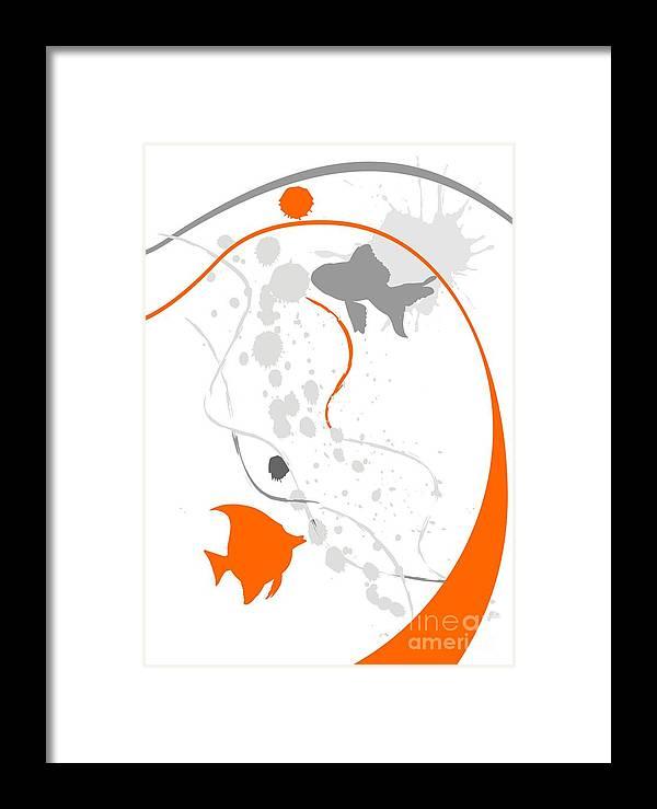 Graphics Framed Print featuring the digital art GV by Marek Lutek