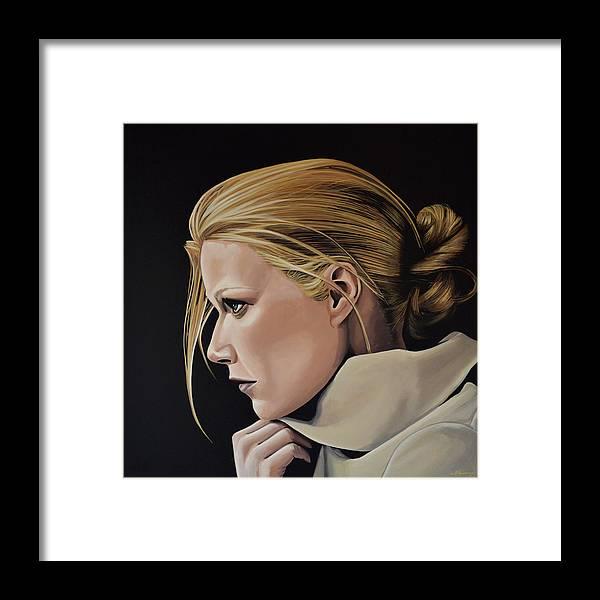 Gwyneth Paltrow Framed Print featuring the painting Gwyneth Paltrow Painting by Paul Meijering