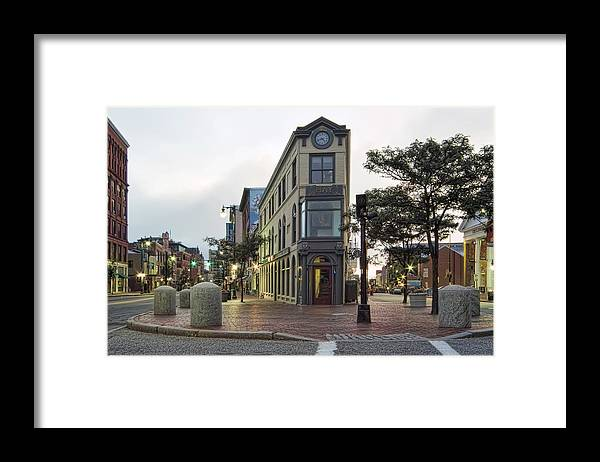 Architecture Framed Print featuring the photograph H H Hay Building Portland Maine by Richard Bean