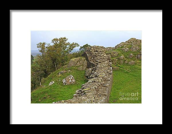 Hadrian's Wall Framed Print featuring the photograph Hadrian's Wall Near Walltown Quarry by Louise Heusinkveld
