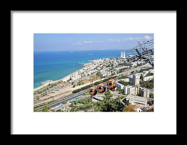 Cable Car Framed Print featuring the photograph Haifa by Photostock-israel