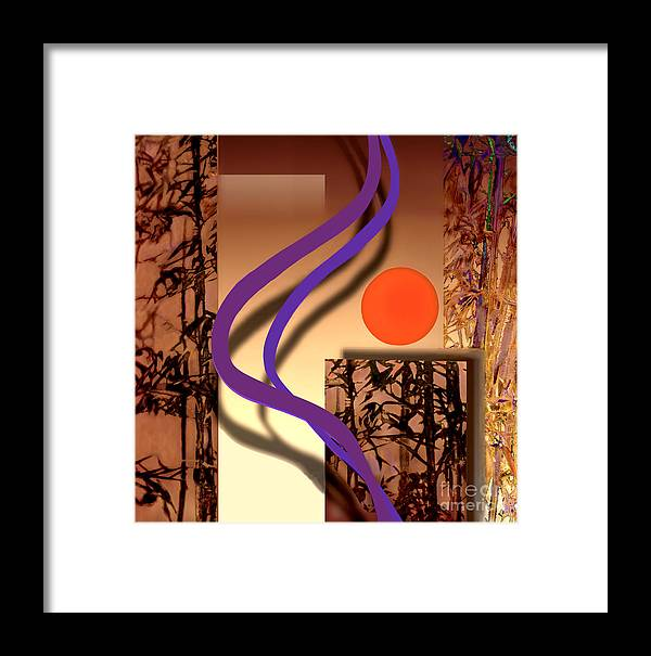 Ursula Freer Framed Print featuring the digital art Haiku by Ursula Freer