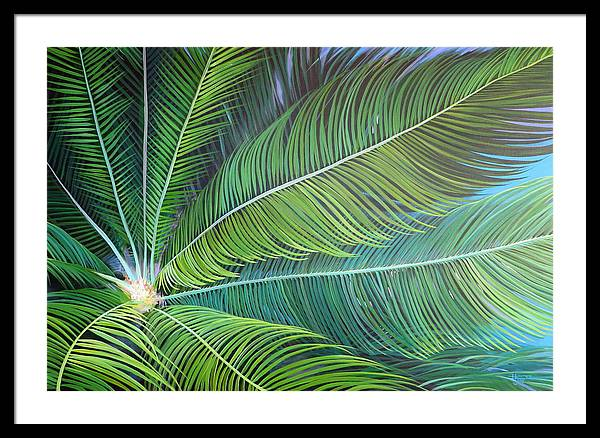 Sago Framed Print featuring the painting Half a World Away by Hunter Jay