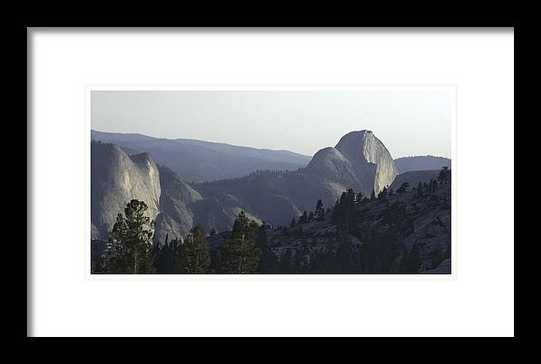 Panorama Framed Print featuring the photograph Half Dome From Olmsted Pt by Gene Norris