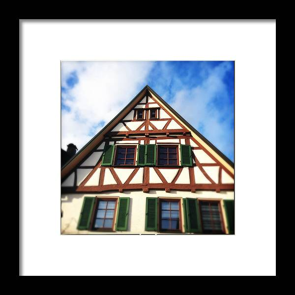 Half-timbered Framed Print featuring the photograph Half-timbered house 02 by Matthias Hauser