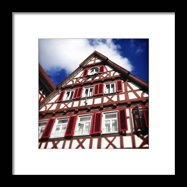 Half-timbered Framed Print featuring the photograph Half-timbered house 09 by Matthias Hauser