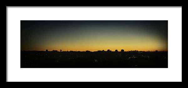 Early Morning Sunrise On Halifax Skyline Framed Print featuring the photograph Halifax Sunrise Skyline by Peter v Quenter