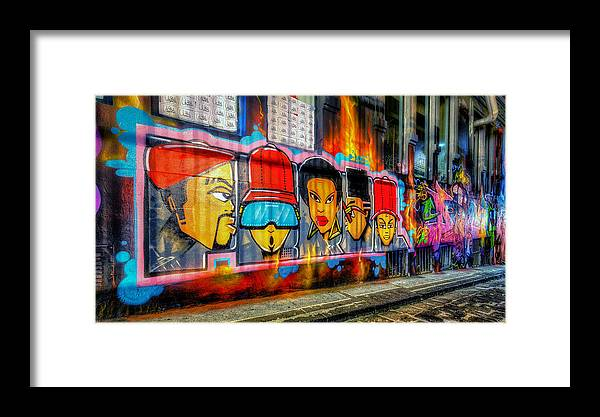 Melbourne Framed Print featuring the photograph Hall Of Fame At Hosier Lane	 by Paradigm Blue