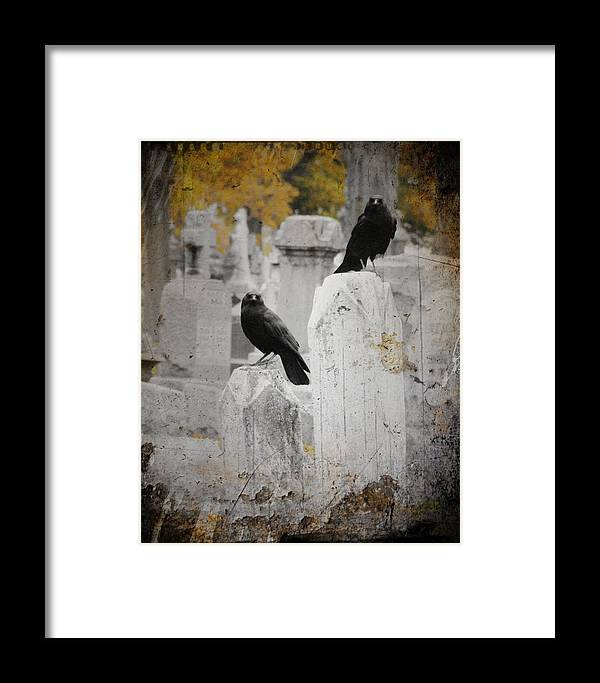 Fall Framed Print featuring the photograph Halloween Is In The Autumn Air by Gothicrow Images