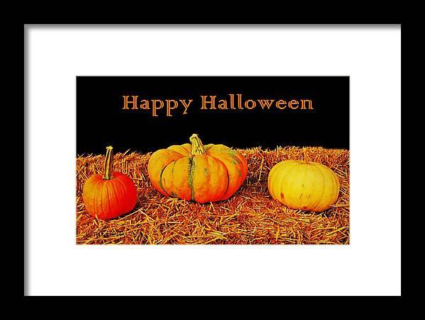 Halloween Framed Print featuring the photograph Halloween Pumpkins by Chris Berry