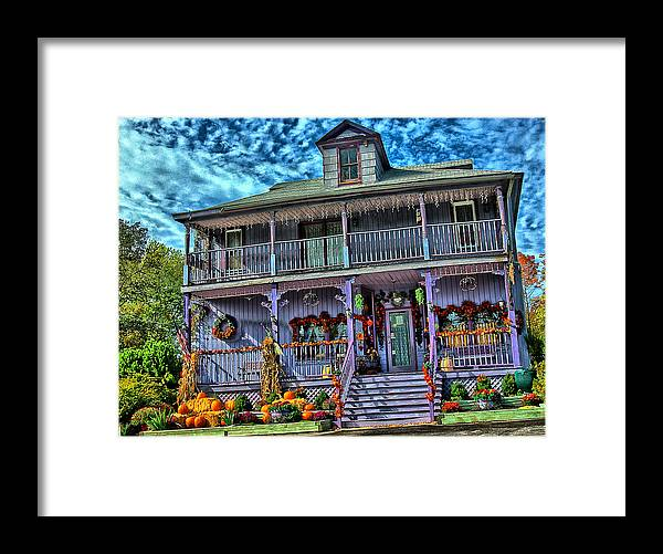 Halloween Framed Print featuring the photograph Halloween House by Perry Frantzman