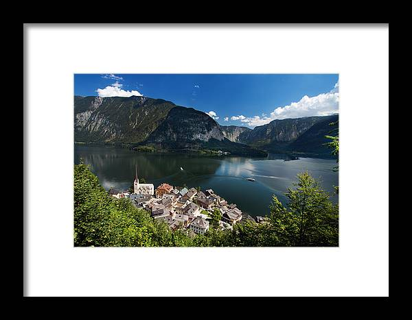 Scenic Framed Print featuring the photograph Hallstatt Austria by Stockr