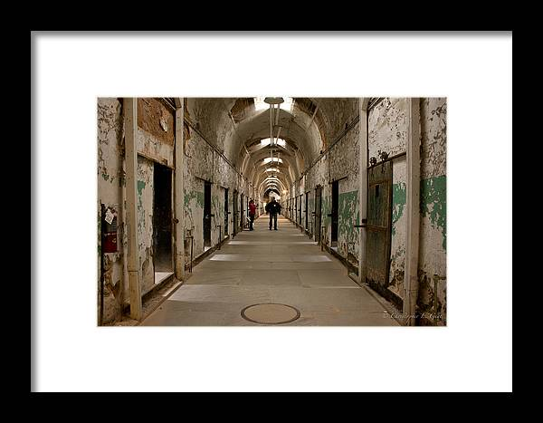 Eastern State Penitentiary Framed Print featuring the photograph Hallways by Chris Gent
