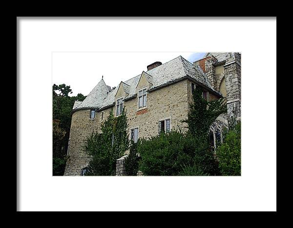Hammond Castle Framed Print featuring the photograph Hammond Castle - Watercolor by Suzanne Gaff