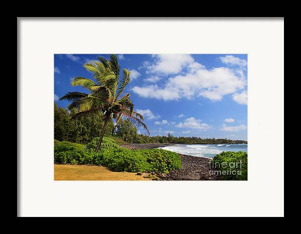 America Framed Print featuring the photograph Hana Beach by Inge Johnsson