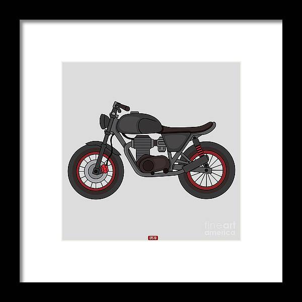 Trend Framed Print featuring the digital art Hand Drawn Classic Motor Illustration by Glory Creative