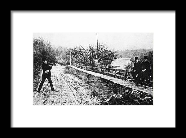 1888 Framed Print featuring the photograph Hand-held Camera, C1888 by Granger