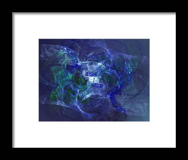 Fractal Framed Print featuring the digital art Hand Held by Jeff Iverson