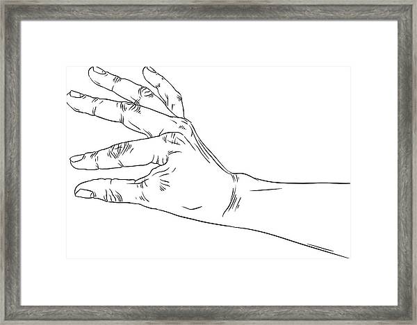 Hand Holding Some Small Object Put There Something Detailed Framed