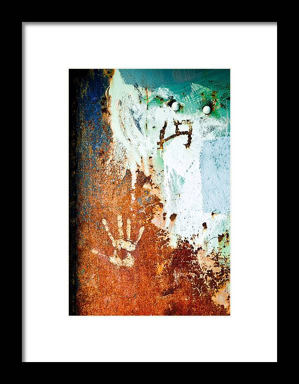 Abstract Framed Print featuring the photograph Hand by Ronda Broatch