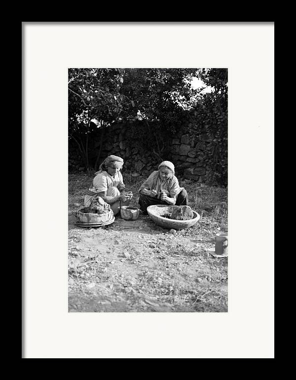 Hand Framed Print featuring the photograph Hand Thrown Pottery by Munir Alawi