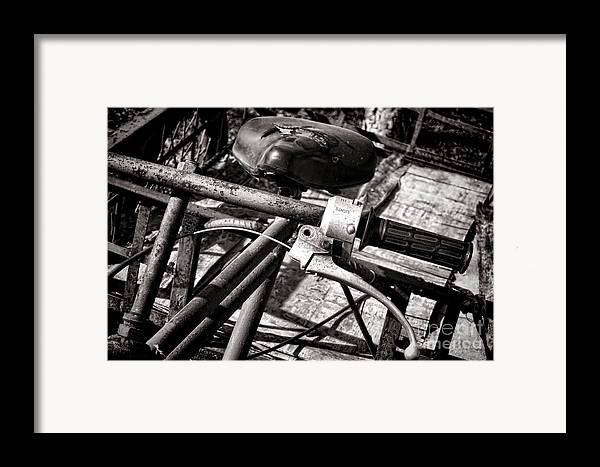 Bike Framed Print featuring the photograph Handlebar by Olivier Le Queinec