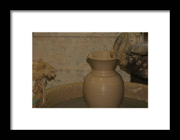 Pottery Framed Print featuring the photograph Hands Of The Potter by Dervent Wiltshire