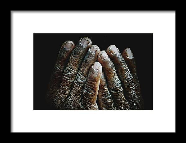 Hands Framed Print featuring the photograph Hands Of Time 2 by Skip Nall